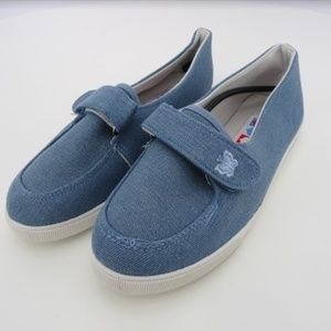 Women's American Sweetheart Canvas Loafers NWOB